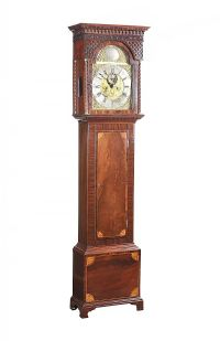 GEORGIAN INLAID MAHOGANY GRANDFATHER CLOCK at Ross's Online Art Auctions