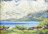 COTTAGE ON THE ANTRIM COAST by Gladys Maccabe HRUA at Ross's Auctions