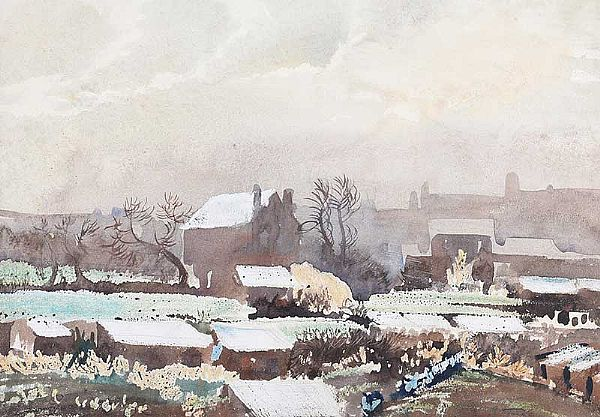 ALLOTMENTS, JANUARY by Joseph Stocks at Ross's Online Art Auctions