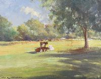 CATTLE RESTING by George K. Gillespie at Ross's Auctions