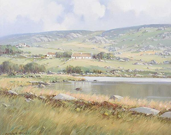 QUIET WATERS NEAR CROLLY, COUNTY DONEGAL by Arthur H. Twells RUA at Ross's Online Art Auctions
