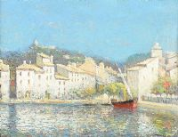 SAILING BOAT, CASSIS, PROVENCE, FRANCE by Julien G. Gagliardini at Ross's Auctions