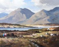 TURF GATHERING, CONNEMARA by Maurice Canning  Wilks ARHA RUA at Ross's Auctions