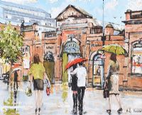 WET DAY, SAINT GEORGE'S MARKET, BELFAST by Holly Hanson at Ross's Auctions