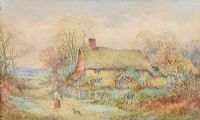 A COTTAGE IN SURREY by Sylvester Stannard RBA at Ross's Auctions