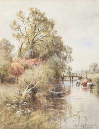 THE ADUR RIVER, SUSSEX by Henry James Kinnard at Ross's Auctions