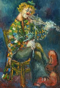 MUSICAL CLOWN by Gladys Maccabe HRUA at Ross's Auctions