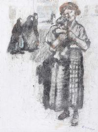 GIRL & BABY by William Conor RHA RUA at Ross's Auctions