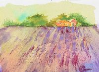 LAVENDER FIELDS AT MOUNT STEWART by Lynda Cookson at Ross's Auctions
