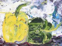 TWO PEPPERS by Lynda Cookson at Ross's Auctions