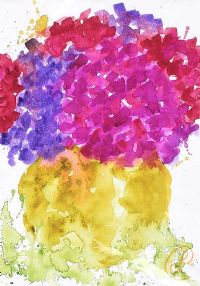 HYDRANGEAS by Lynda Cookson at Ross's Auctions