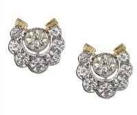 18CT GOLD DIAMOND EARRINGS at Ross's Auctions