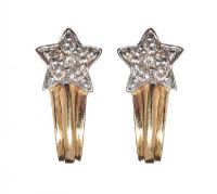 18CT GOLD DIAMOND EARRINGS at Ross's Online Art Auctions