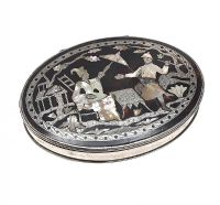 FRENCH 1750'S SILVER MOTHER OF PEARL MOUNTED PILL BOX at Ross's Jewellery Auctions