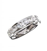 PLATINUM DIAMOND HALF-ETERNITY RING at Ross's Jewellery Auctions