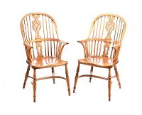 PAIR OF ASH WINDSOR ARMCHAIRS at Ross's Auctions