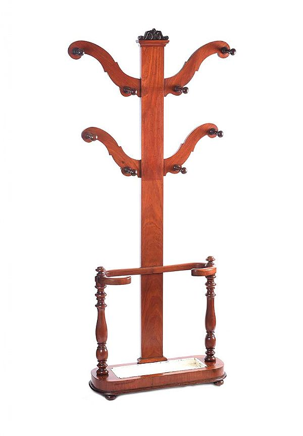 VICTORIAN MAHOGANY HALL STAND at Ross's Online Art Auctions