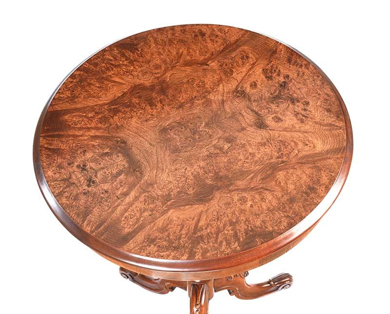 VICTORIAN WALNUT LAMP TABLE at Ross's Online Art Auctions