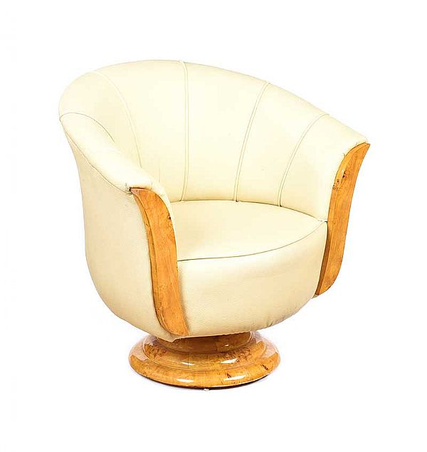 ART DECO STYLE TUB CHAIR at Ross's Online Art Auctions