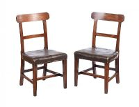 PAIR OF GEORGIAN MAHOGANY SIDE CHAIRS at Ross's Auctions