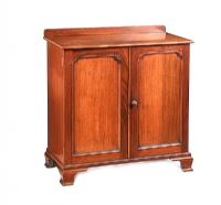 EDWARDIAN MAHOGANY TWO DOOR CABINET at Ross's Auctions