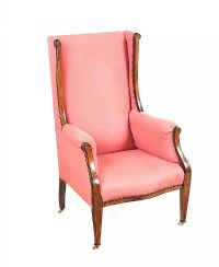 EDWARDIAN WING BACK ARMCHAIR at Ross's Auctions