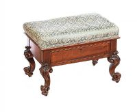 VICTORIAN CABRIOLE LEG STOOL at Ross's Auctions