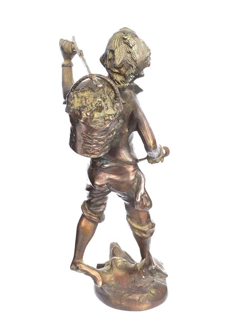 LATE NINETEENTH CENTURY BRONZE FIGURE at Ross's Online Art Auctions