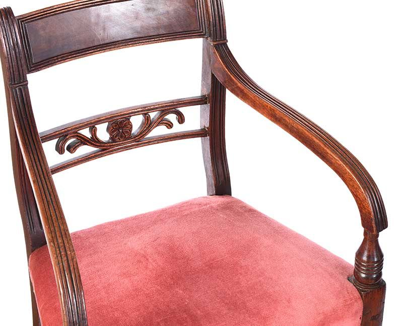 PAIR OF REGENCY MAHOGANY ARMCHAIRS at Ross's Online Art Auctions