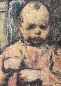 THE SULKY CHILD by William Conor RHA RUA at Ross's Auctions