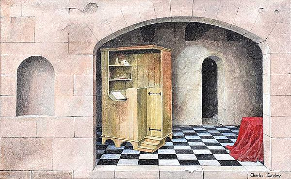 THE PRIVATE ROOM I by Charles Oakley at Ross's Online Art Auctions