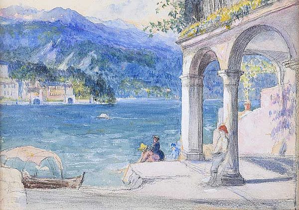 LAGO D'ORTA, ITALY by John MacWhirter RA at Ross's Online Art Auctions