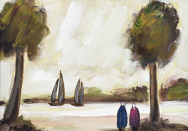 WATCHING THE SAIL BOATS by Markey Robinson at Ross's Online Art Auctions