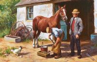 THE BLACKSMITH by Donal McNaughton at Ross's Auctions