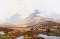 DIAMOND MOUNTAIN, NEAR LETTERFLECK, CONNEMARA by William Henry  Burns at Ross's Auctions