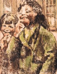 EATING APPLES by William Conor RHA RUA at Ross's Auctions