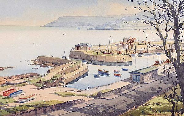 HARBOUR, CARNLOUGH, COUNTY ANTRIM by Samuel McLarnon UWS at Ross's Online Art Auctions