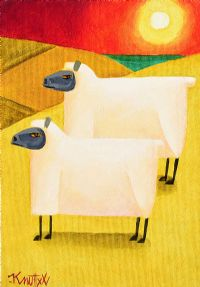SUNSET SHEEP by Graham Knuttel at Ross's Auctions
