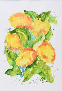 RAINWASHED LEMONS by Lynda Cookson at Ross's Auctions