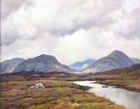 MAM TURK MOUNTAINS by Charles McAuley at Ross's Auctions