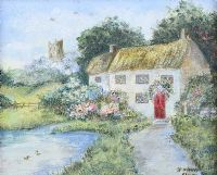 THATCHED COTTAGE by Grainne Ayle at Ross's Auctions