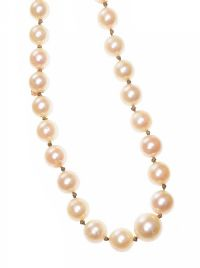 STRAND OF PEARLS WITH 9CT GOLD CLASP at Ross's Jewellery Auctions