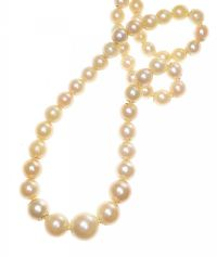 18CT WHITE GOLD PEARL NECKLACE at Ross's Jewellery Auctions