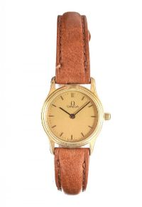 OMEGA 9CT GOLD WRIST WATCH at Ross's Auctions