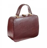 1970'S BURGANDY LEATHER MAKE-UP CASE at Ross's Online Art Auctions