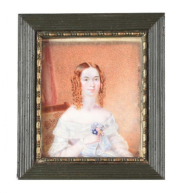 FRAMED MINIATURE at Ross's Online Art Auctions