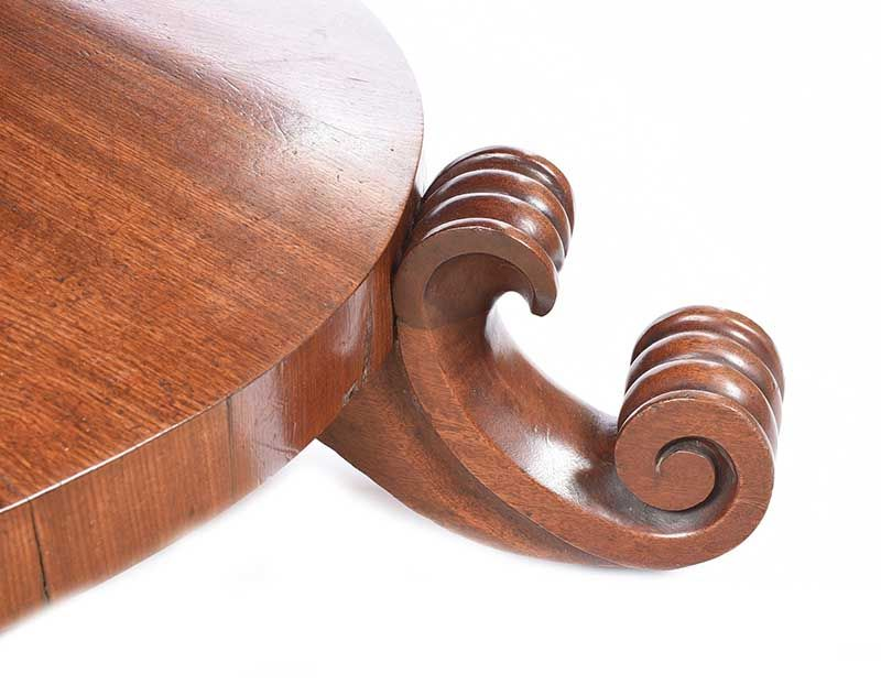 WILLIAM IV MAHOGANY BREAKFAST TABLE at Ross's Online Art Auctions