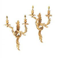 PAIR OF ROCOCO STYLE METAL WALL SCONCES at Ross's Auctions