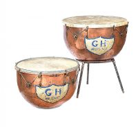BOSSEY & SONS OF LONDON COPPER KETTLE DRUMS at Ross's Auctions