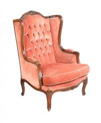 FRENCH STYLE BUTTON BACK ARMCHAIR at Ross's Auctions